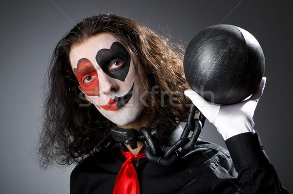 клоуна студию улыбка лице пространстве весело Сток-фото © Elnur