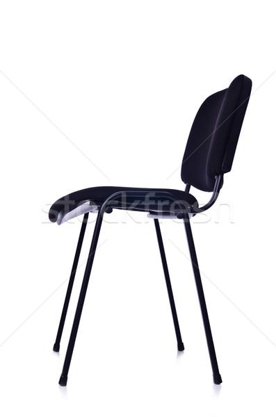 Siyah ofis koltuğu yalıtılmış beyaz ofis yaz Stok fotoğraf © Elnur