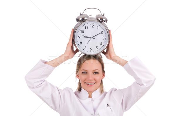 Vrouw arts vermist deadlines medische ziekenhuis Stockfoto © Elnur