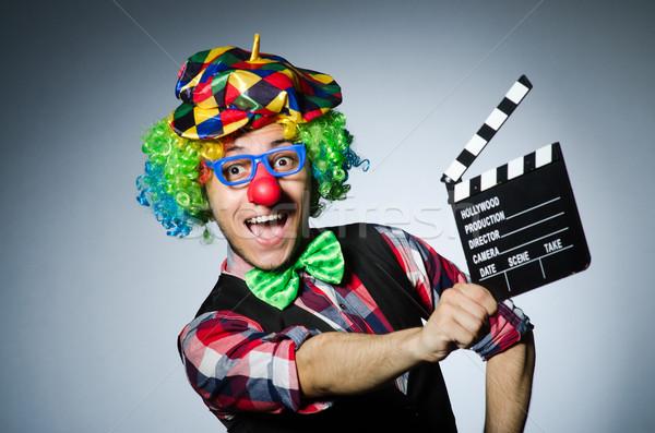 Clown film boord film leuk werknemer Stockfoto © Elnur