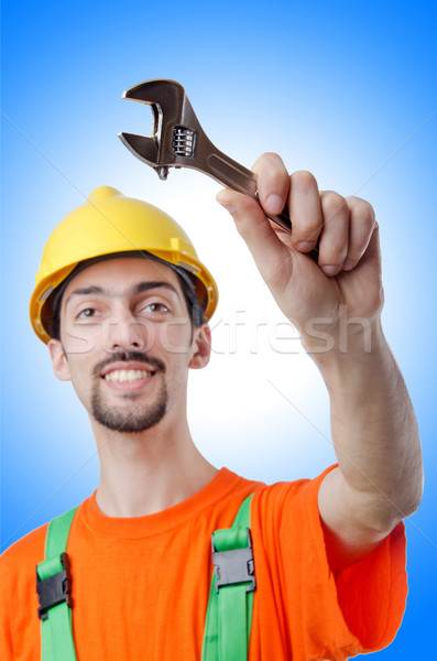 Repairman in coveralls in industrial concept Stock photo © Elnur