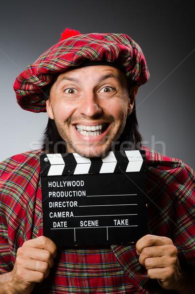 Komik film sokak çanta siyah beyaz Stok fotoğraf © Elnur