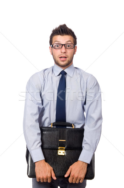 Funny businessman isolated on the white Stock photo © Elnur