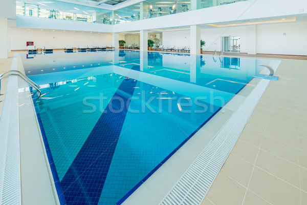 Indoor swimming pool in healthy concept Stock photo © Elnur