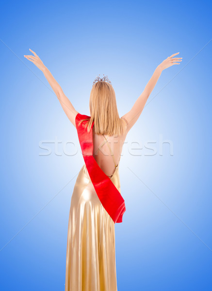 Beauty queen at contest against the gradient  Stock photo © Elnur
