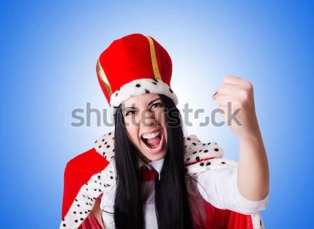 Kobieta marynarz gradient uśmiech moda lata Zdjęcia stock © Elnur