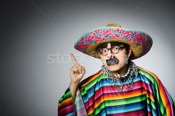 Człowiek żywy mexican szary tle zielone Zdjęcia stock © Elnur