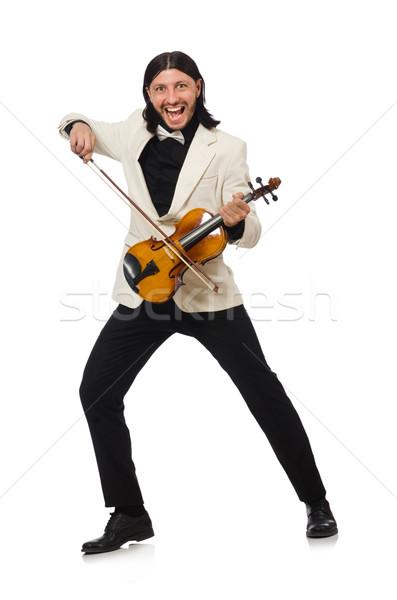 男 バイオリン 演奏 白人 白 楽しい ストックフォト © Elnur