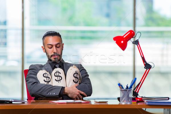 счастливым бизнесмен деньги служба бизнеса работу Сток-фото © Elnur
