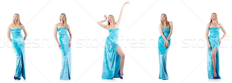 Divat magas modell fehér nő tánc Stock fotó © Elnur