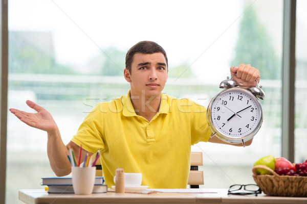 Student missing deadlines for exam preparation Stock photo © Elnur