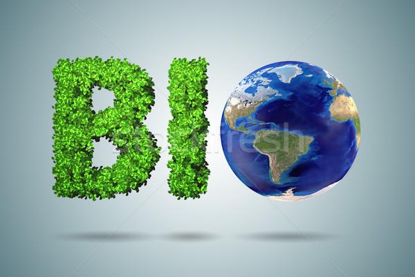 Stock fotó: ökológia · zöld · környezet · 3D · renderelt · kép · fű