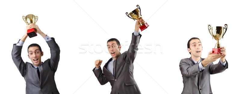 Kollázs üzletember díj üzlet munkás vállalati Stock fotó © Elnur