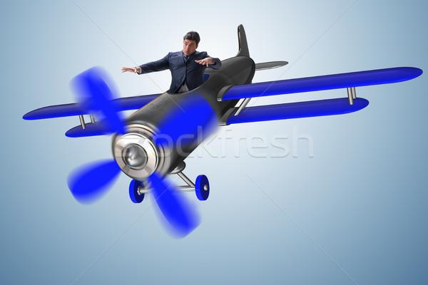 бизнесмен экономический кризис небе самолет плоскости Сток-фото © Elnur