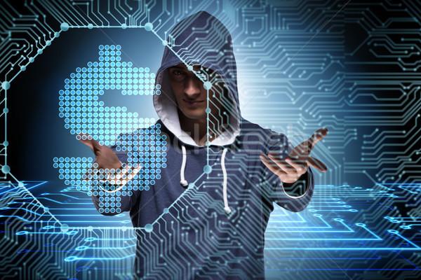 Piratería bancario financieros negocios ordenador Foto stock © Elnur
