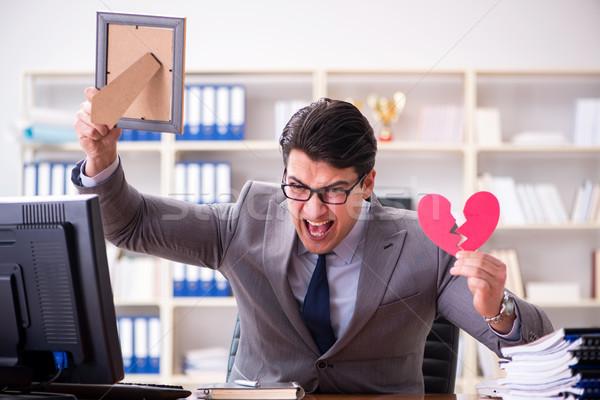 Biznesmen święty walentynki biuro działalności kobieta Zdjęcia stock © Elnur