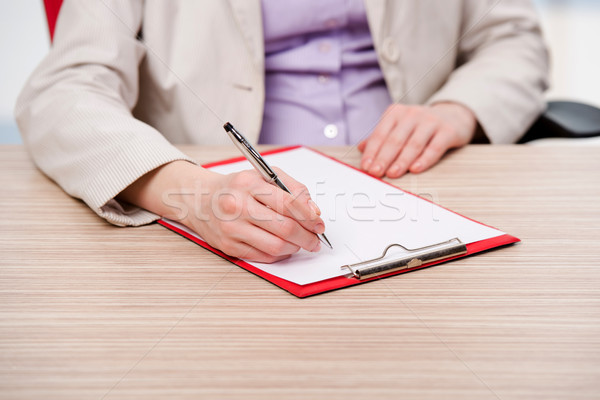 Kezek jegyzetel papír kéz könyv toll Stock fotó © Elnur