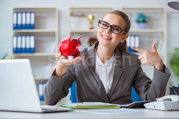 Homme femme d'affaires patron comptable travail bureau Photo stock © Elnur