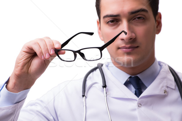 Szemorvos orvosi izolált fehér orvos háttér Stock fotó © Elnur
