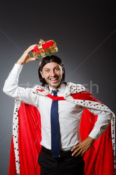Young king businessman in royal concept Stock photo © Elnur