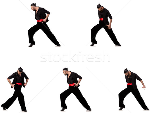 Spanish dancer in various poses on white Stock photo © Elnur