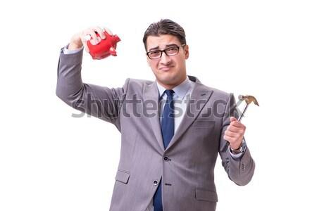 Biznesmen dynamit odizolowany biały działalności tle Zdjęcia stock © Elnur