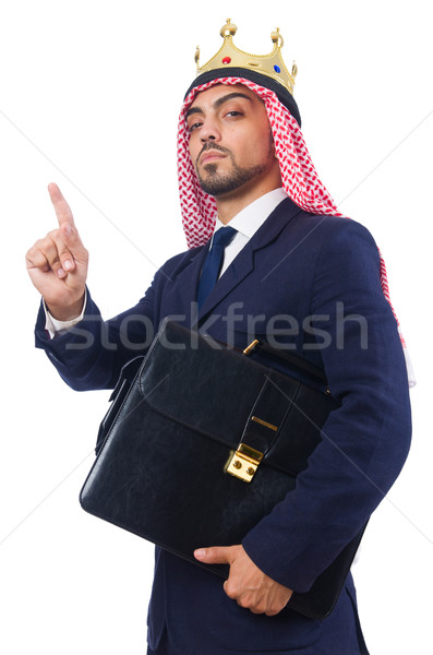 Árabe empresário coroa branco negócio trabalhar Foto stock © Elnur
