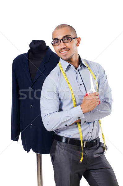Tailor isolated on the white background Stock photo © Elnur