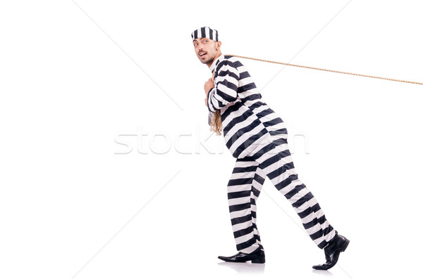 Stockfoto: Crimineel · gestreept · uniform · oorlog · recht