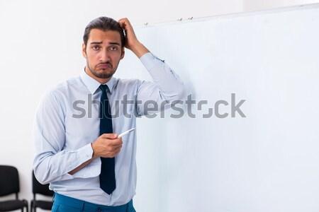 Engraçado empresário machado branco negócio escritório Foto stock © Elnur