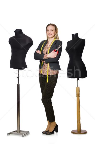Donna su misura isolato bianco moda lavoro Foto d'archivio © Elnur