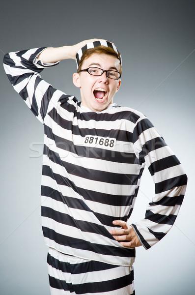 Engraçado prisão internado lei polícia justiça Foto stock © Elnur
