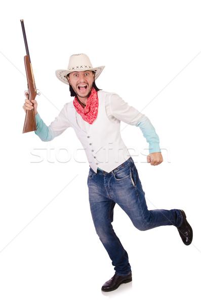 Cowboy isolated on the white background Stock photo © Elnur