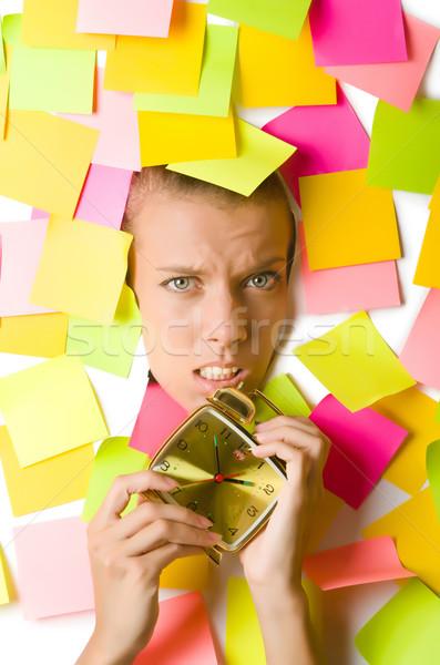 Nő óra üzlet mosoly arc munka Stock fotó © Elnur