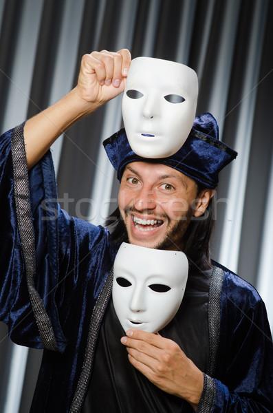 Divertente teatrale maschera uomo sfondo triste Foto d'archivio © Elnur