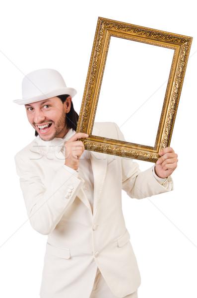 Homme blanche costume cadre photo mode travaux Photo stock © Elnur