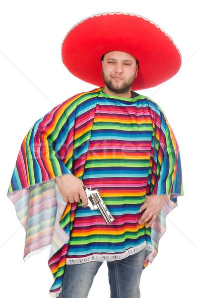 смешные мексиканских пистолет изолированный белый Сток-фото © Elnur