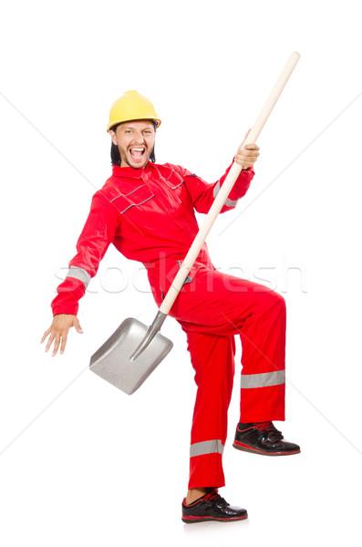 男 赤 スペード 作業 庭園 業界 ストックフォト © Elnur