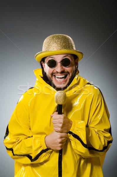 Сток-фото: человека · желтый · костюм · вечеринка · танцы