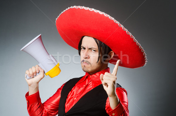 Mexican guy with the loudspeaker Stock photo © Elnur