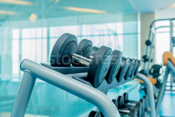 Moderne gymnasium sportartikelen fitness oefening Stockfoto © Elnur