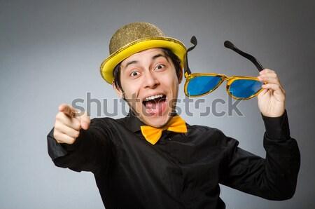 Pirate businessman shouting isolated on white Stock photo © Elnur
