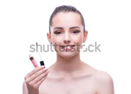 Femme isolé blanche oeil yeux Photo stock © Elnur