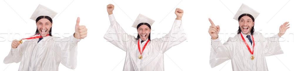 Moço pronto universidade graduação papel estudante Foto stock © Elnur
