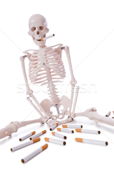 Sigaretten schedel gezicht medische lichaam gezondheid Stockfoto © Elnur