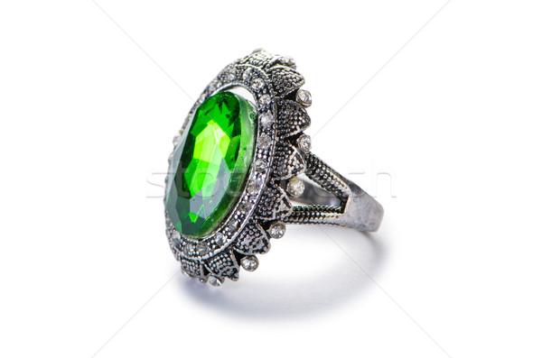 Schmuck Ring isoliert weiß Kette Diamant Stock foto © Elnur