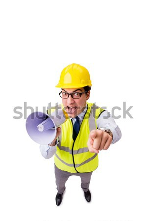 Angry construction supervisor isolated on white Stock photo © Elnur