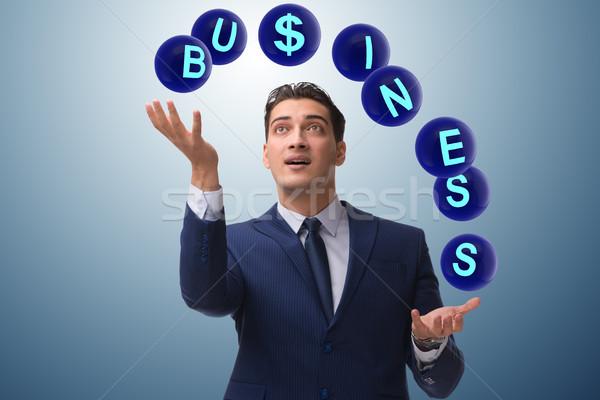 Biznesmen żonglerka różny działalności człowiek pracy Zdjęcia stock © Elnur
