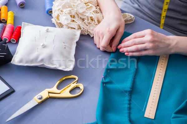 женщину портной рабочих одежду швейных Сток-фото © Elnur