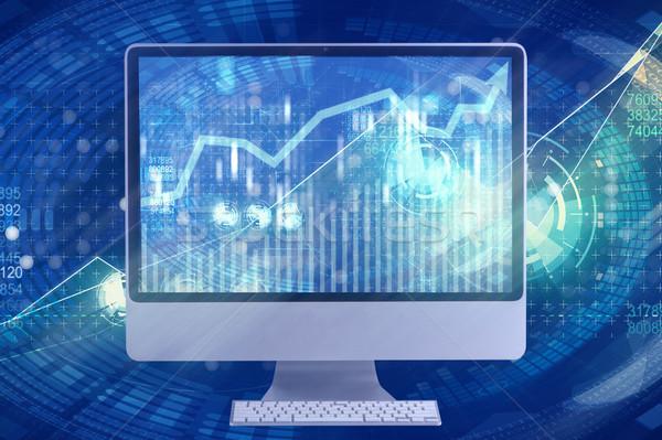 Stock fotó: Képernyő · üzlet · technológia · hálózat · monitor · háló